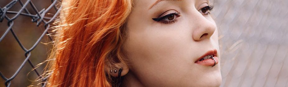 Woman With Pierced Lip